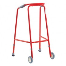 Red Aluminium Walking Frame